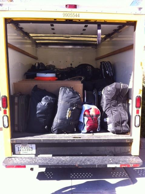 Equipment van all loaded up!