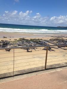 Alexandra Headland beach near our hotel