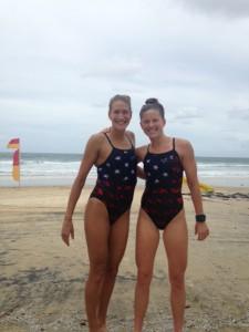 Post swim training with travel buddy Jess